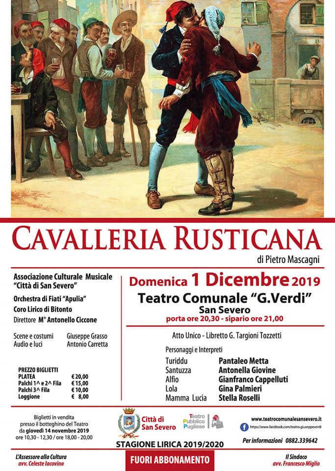 locandina Cavalleria Rusticana 2019